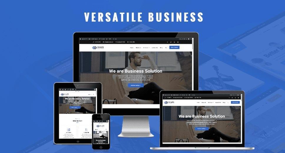 Versatile Business Multipurpose WordPress Theme is Now Live on WordPress.org