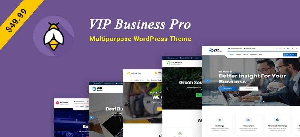 VIP Business Pro – A Multipurpose WordPress Theme for all Businesses