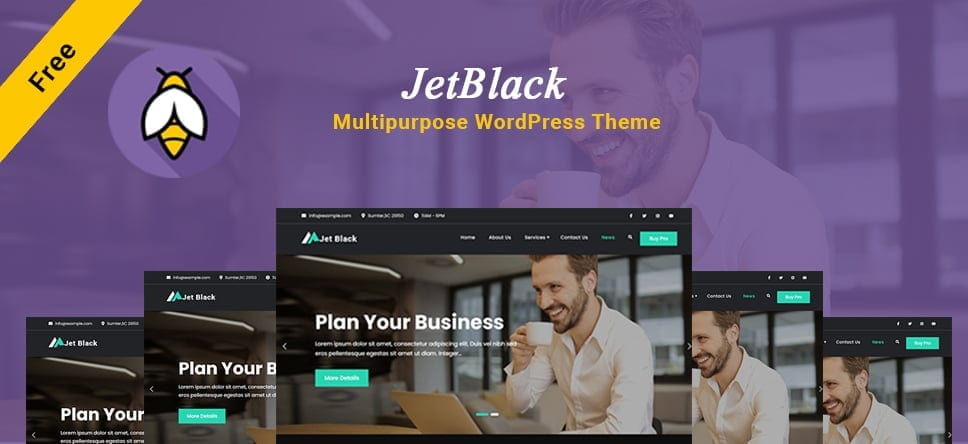 JetBlack – Dark Multipurpose WordPress theme live on WordPress.org
