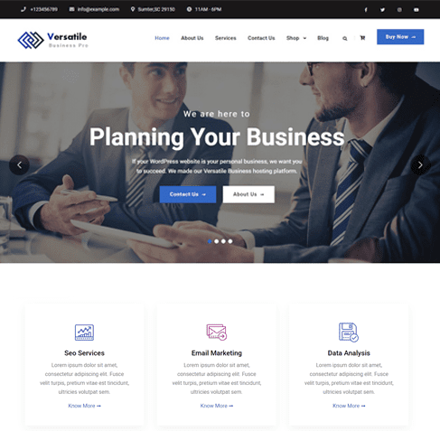 Versatile Business Pro WordPress Theme