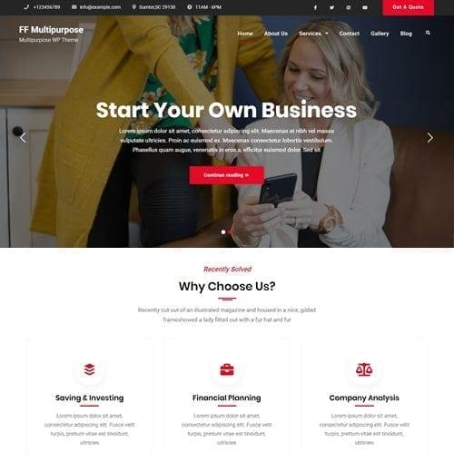 FF Multipurpose Free WordPress Theme
